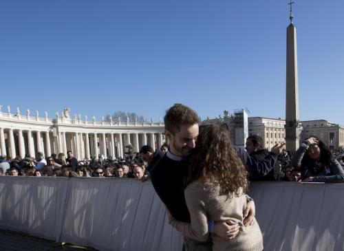 Roma - San Valentino 2014 in Vaticano con Papa Francesco